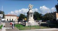 15 -Rieti - Piazza Mazzini Piazza centrale della città, con la stazione, qui si può ammirare il monumento dei caduti, sormontato dal bellissimo angelo.