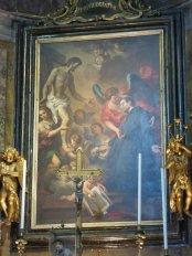 20 -Chiesa_di_San_Rufo,_Rieti_-_altare_principale_-_dipinto_L'estasi di San Camillo, Pierre Subleyras