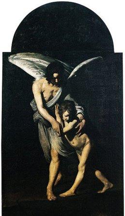 21 -Rieti. Chiesa di San Rufo. L'angelo custode (1610-1618), attribuito a Giovanni Antonio Galli detto lo Spadarino