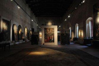 13 -Rieti. Il Palazzo Vescovile. Il salone delle udienze, che ospita la pinacoteca diocesana