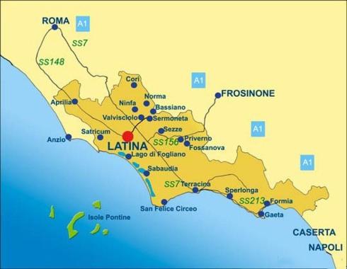 Cartina Provincia di Latina