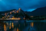 13 -Rieti. lago e Castel di Tora di sera