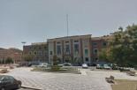 9 - Latina. Piazza della Libertà sede della Prefettura e la sua fontana.
