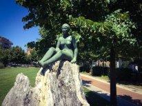 8 -La villa comunale di Frosinone, particolare della statua