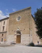 46 -Rieti. Chiesa di Sant'Agostino facciata.