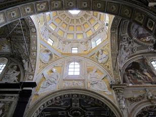 22 -Genova, chiesa S Matteo, interno-della-cupola-con-gli-stucchi-del-montorsoli