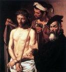 74 -Genova. Palazzo Bianco, all'interno, Caravaggio, Ecce Homo, olio su tela (1605)