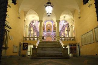 78 -Genova. Il palazzo Doria-Tursi. La scala