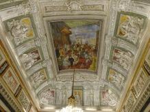 81 -Genova. Il palazzo Doria-Tursi . Salone di rappresentanza, il soffitto