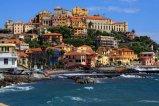 33 -Imperia, porto Maurizio altra veduta. borgo foce