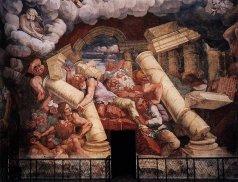 18 -Mantova. Il palazzo Te. La caduta dei giganti (particolare della sala dei Giganti)