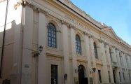 """34 -Mantova. Teatro Bibiena In via Accademia 47. Il """"Teatro Scientifico dell'Accademia"""", capolavoro di Antonio Bibiena (1697-1774) fu inaugurato il 3 dicembre 1769. Poche settimane dopo, il 16 gennaio 1770, ospitò un concerto del giovane Mozart, non ancora quattordicenne. Nello stesso edificio ha sede l'Accademia Nazionale Virgiliana fondata nel 1768."""