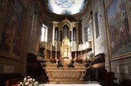 19 -Savona. L´interno della chiesa, dettaglio dell'altare maggiore