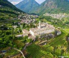 16 -Sondrio - Valtellina (IT) - Panoramica dei vigneti in Frazione Sant'Anna e Convento di San Lorenzo