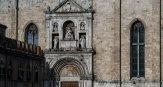 8 -Ascoli Piceno – Piazza del Popolo Testata.Chiesa di San Francesco dettaglio