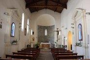 26 -Grosseto,_san_pietro,_interno. A una navata è conservata una piccola epigrafe del 1245 attribuita alla famiglia degli Aldobrandeschi.