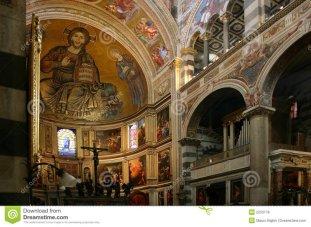 10 -Pisa. Interno della cattedrale, dettaglio.