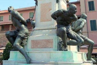 25-Livorno, Il monumento dei Quattro Mori, particolare.