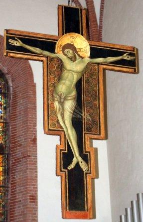 22 -Grosseto, interno chiesa di San Francesco. Il Crocifisso di Duccio di Buoninsegna, Maestro di Badia a Isola o Guido di Graziano.