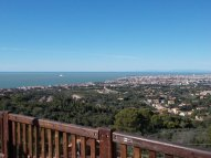 3 -Livorno. Panorama mozzafiato sulla città di Livorno, dal santuario di Montenegro.