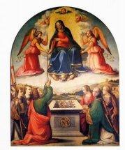 7 -Prato, interno Duomo, David e Ridolfo del Ghirlandaio, Assunta