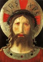 11 -Livorno. Duomo, interno, particolare del Cristo coronato di spine del Beato Angelico.