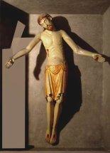 9 -Prato, interno Duomo, Cristo deposto (XIII secolo nella cappella Vinaccesi