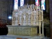 8 -Arezzo. Duomo. Nel congiunto Museo Diocesano, il Fonte Battesimale.