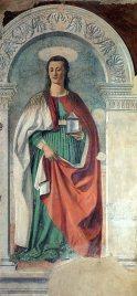 6 -Arezzo. Il Duomo interno. la Maddalena di Piero della Francesca dipinta nel 1465.