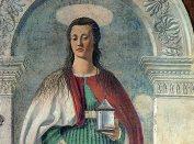 7 -Arezzo. Il Duomo interno. La Maddalena in dettaglio.