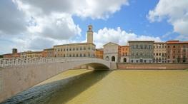 27 -Pisa, lungarno, ponte di mezzo.