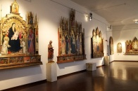 32 -Siena, Pinacoteca Nazionale altra sala interna.